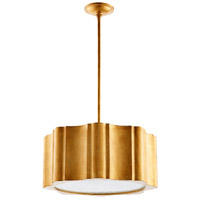 Cloud Nine 6 Light 22 inch Gold Leaf Pendant Ceiling Light