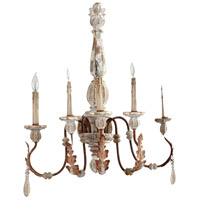 Cyan Design 07631 La Maison 5 Light 21 inch Manchester Grey and Rust Accents Wall Chandelier Wall Light