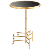 Romy 16 inch Gold and Black Side Table
