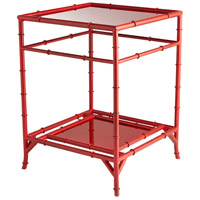 Akira 25 X 18 inch Chinese Red Side Table