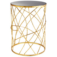Esca 18 inch Gold and Black Side Table