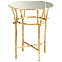 Argent 20 inch Gold Leaf Side Table