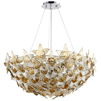Moon Lillie 10 Light 33 inch Chrome Pendant Ceiling Light