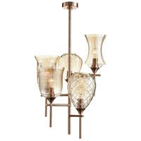 Cyan Design 07668 Darcey 5 Light 19 inch Satin Copper Chandelier Ceiling Light