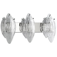 Arista 3 Light 28 inch Chrome Vanity Wall Light