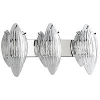 Cyan Design 07671 Arista 3 Light 28 inch Chrome Vanity Wall Light