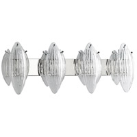 Arista 4 Light 37 inch Chrome Vanity Wall Light
