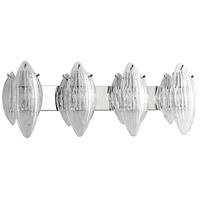 Cyan Design 07672 Arista 4 Light 37 inch Chrome Vanity Wall Light