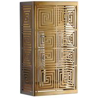 Cyan Design 07674 Allison 2 Light 8 inch Satin Brass Wall Sconce Wall Light