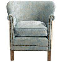 Cyan Design 07709 Bailey Blue Vintage Velvet Chair Home Decor