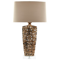Cyan Design 07734 Elethea 34 inch 100 watt Gold Table Lamp Portable Light