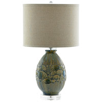 Cyan Blue Linen Table Lamps
