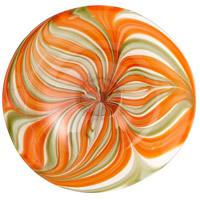 Cyan Design 07797 Chika Orange Plate, Small