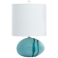 Terza 23 inch 40 watt Green Table Lamp Portable Light, Small