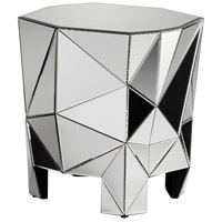 Alessandro 26 X 25 inch Clear Side Table