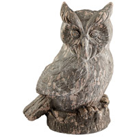 Owlet Washed Ebony Sculpture