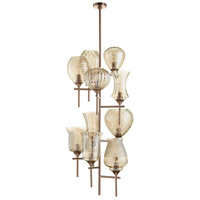 Darcey 10 Light 21 inch Satin Copper Chandelier Ceiling Light
