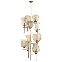 Cyan Design 07950 Darcey 10 Light 21 inch Satin Copper Chandelier Ceiling Light
