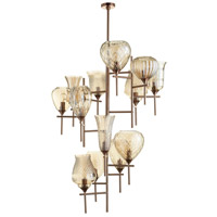 Darcey 13 Light 41 inch Satin Copper Chandelier Ceiling Light