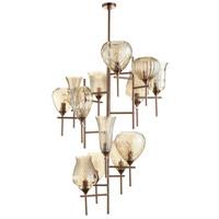 Cyan Design 07951 Darcey 13 Light 41 inch Satin Copper Chandelier Ceiling Light