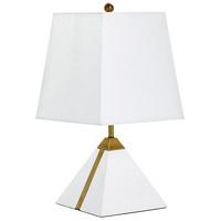 Cyan Design 07961 Giza 19 inch 100 watt White and Brass Table Lamp Portable Light