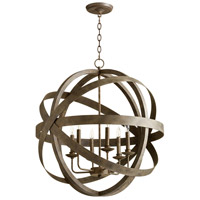 Gladwin 6 Light 27 inch Distressed Zinc Pendant Ceiling Light