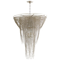 Ithica 12 Light 31 inch Aged Silver Leaf Pendant Ceiling Light