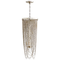 Ithica 4 Light 12 inch Aged Silver Leaf Pendant Ceiling Light