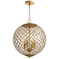Cyan Design 07973 Skyros 4 Light 20 inch Gold Leaf Pendant Ceiling Light