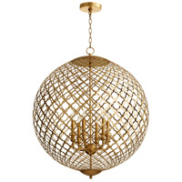 Skyros 6 Light 30 inch Gold Leaf Pendant Ceiling Light