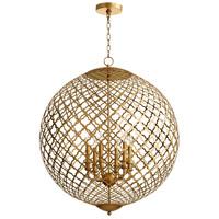 Cyan Design 07974 Skyros 6 Light 30 inch Gold Leaf Pendant Ceiling Light