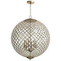 Cyan Design 07976 Skyros 6 Light 30 inch Silver Leaf Pendant Ceiling Light