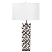 Brass and Fabric Table Lamps