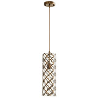 Cyan Design 07980 Corsica 1 Light 6 inch Clear and Satin Brass Pendant Ceiling Light Large