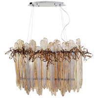 Thetis 5 Light 36 inch Chrome and Copper Island Light Ceiling Light