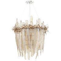 Thetis 9 Light 30 inch Chrome and Copper Chandelier Ceiling Light, Small