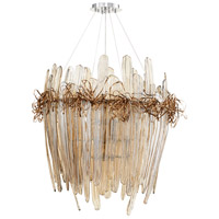Thetis 12 Light 37 inch Chrome and Copper Chandelier Ceiling Light, Large