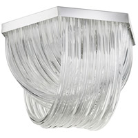 Galicia 3 Light 21 inch Chrome Flush Mount Ceiling Light, Medium