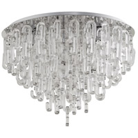 Centaurus 6 Light 27 inch Chrome Flush Mount Ceiling Light