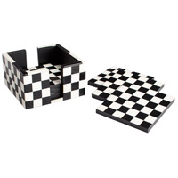 Cyan Design 08005 Check Mate Black and White Coasters