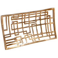Cyan Design 08157 Circuit Board Antique Brass Tray, Small