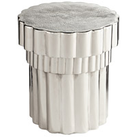 Mumbo Jumbo 20 inch Nickel Side Table