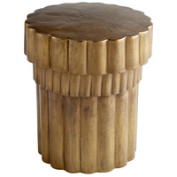 Mumbo Jumbo 20 inch Brushed Brass Side Table