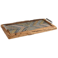 Worn Welcome Natural Rustic Pinewood Tray