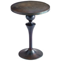 Gully Bronze and Blue Side Table Home Decor