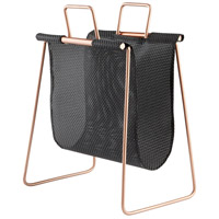 Handle It Black and Gold Magazine Rack