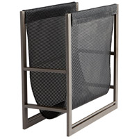 Cyan Design 08326 Mesh Graphite and Black Magazine Rack