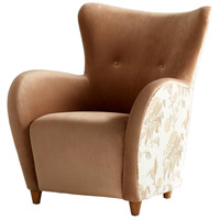 Cyan Design 08339 Throne Le Fleur Brown Chair