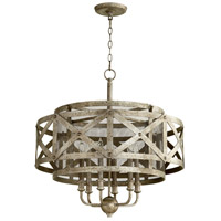 Byzantine 6 Light 27 inch Graphite Pendant Ceiling Light