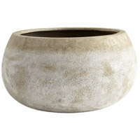 Cyan Design 08403 Stoney Ash Stone Outdoor Planter, Large photo thumbnail